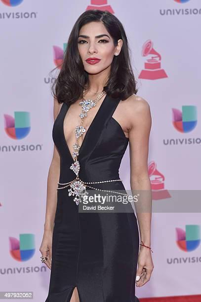 Model Alejandra Espinoza attends the 16th Latin GRAMMY Awards at the MGM Grand Garden Arena on November 19 2015 in Las Vegas Nevada