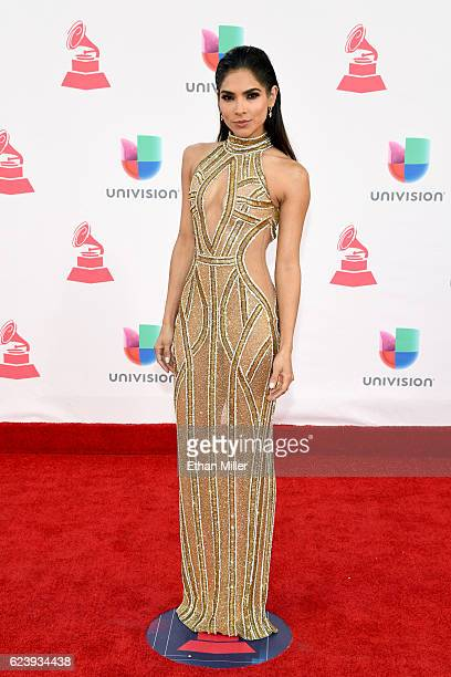 Model Alejandra Espinoza attends The 17th Annual Latin Grammy Awards at TMobile Arena on November 17 2016 in Las Vegas Nevada