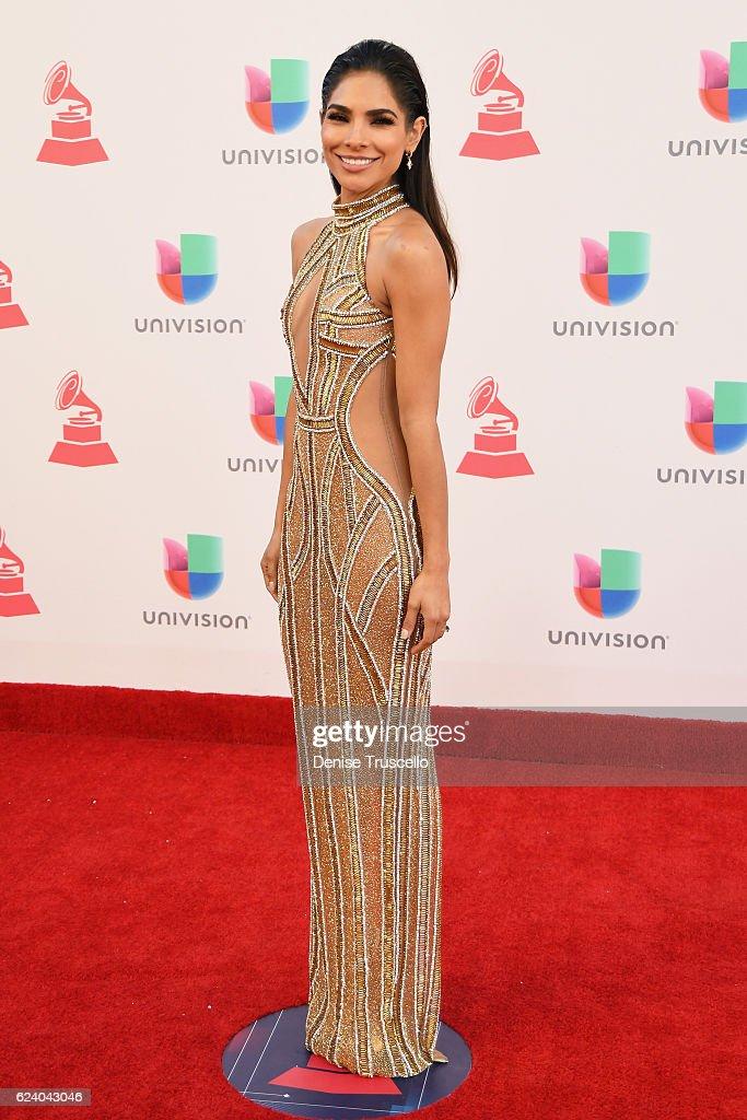 Model Alejandra Espinoza attends The 17th Annual Latin Grammy Awards at T-Mobile Arena on November 17, 2016 in Las Vegas, Nevada.