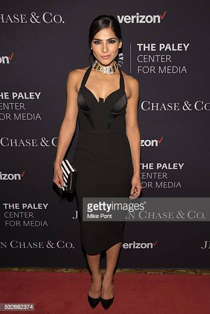 Model Alejandra Espinoza attends the 2016 Paley Center for Media's Tribute To Hispanic Achievements In Television at Cipriani Wall Street on May 18...