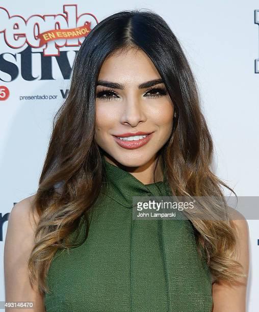 Model Alejandra Espinoza i attends 4th Annual People en Espanol Festival at Jacob Javitz Center on October 17 2015 in New York City