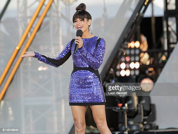 Model Alejandra Espinoza performs onstageg at Univision and Fusion host RiseUp AS ONE at Cross Border Xpress on October 15 2016 in San Diego...