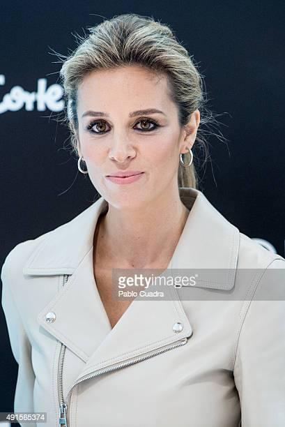 Model Alejandra Silva presents the new fragance by Loewe 'Solo Loewe Cedro' at El Corte Ingles store on October 6 2015 in Madrid Spain