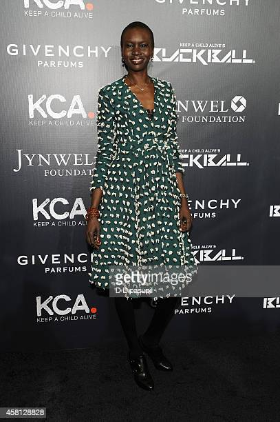 Model Alek Wek attends Keep A Child Alive's 11th annual Black Ball at Hammerstein Ballroom on October 30 2014 in New York City