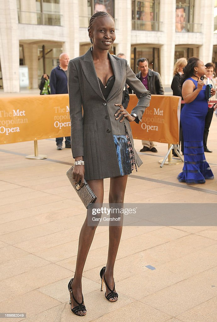 Model Alek Wek attends the 2013 American Ballet Theatre Opening Night Spring Gala at Lincoln Center on May 13, 2013 in New York City.