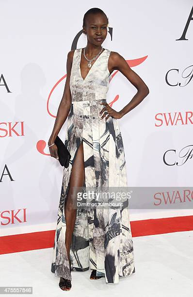 Model Alek Wek attends the 2015 CFDA Fashion Awards at Alice Tully Hall at Lincoln Center on June 1 2015 in New York City