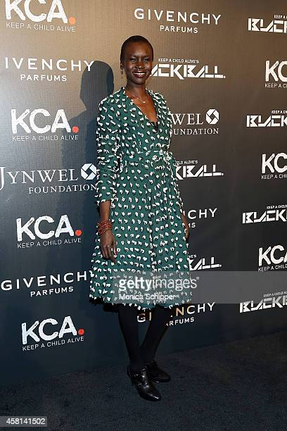 Model Alek Wek attends the 9th annual Keep A Child Alive Black Ball at Hammerstein Ballroom on October 30 2014 in New York City