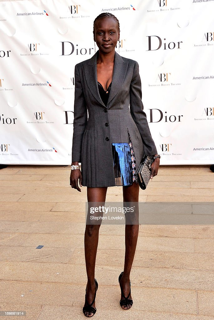 Model Alek Wek attends the American Ballet Theatre opening night Spring Gala at Lincoln Center on May 13, 2013 in New York City.