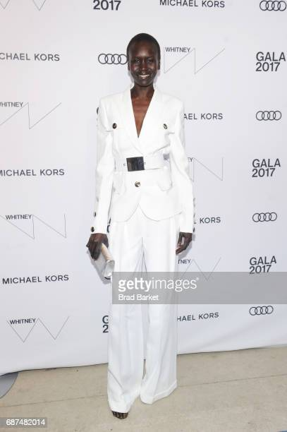 Model Alek Wek attends the Whitney Museum's annual Spring Gala and Studio Party 2017 sponsored by Audi and Michael Kors on May 23 2017 in New York...