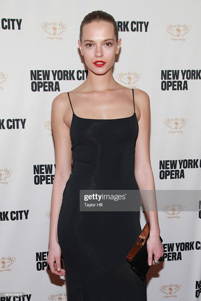 Model Aleksandra Cvetkovic attends the 2013 New York City Opera Spring Gala at New York City Center on April 25, 2013 in New York City.