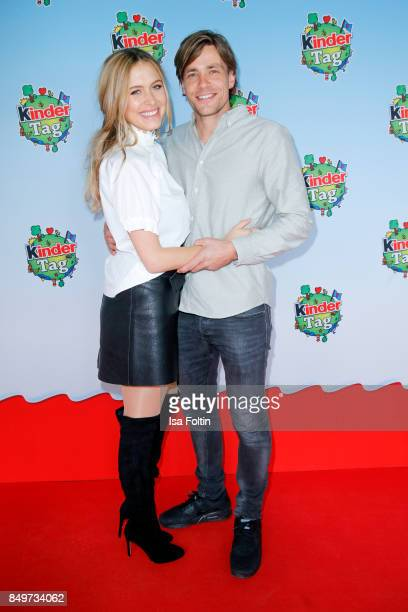 Model Alena Gerber and her boyfriend former German soccer player Clemens Fritz during the KinderTag to celebrate children's day on September 19 2017...