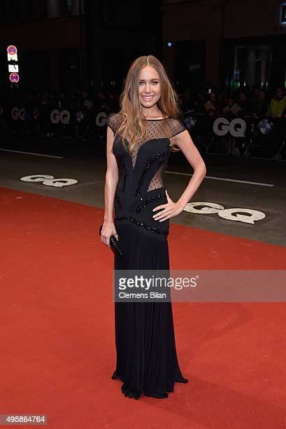 Model Alena Gerber arrives at the GQ Men of the year Award 2015 at Komische Oper on November 5 2015 in Berlin Germany