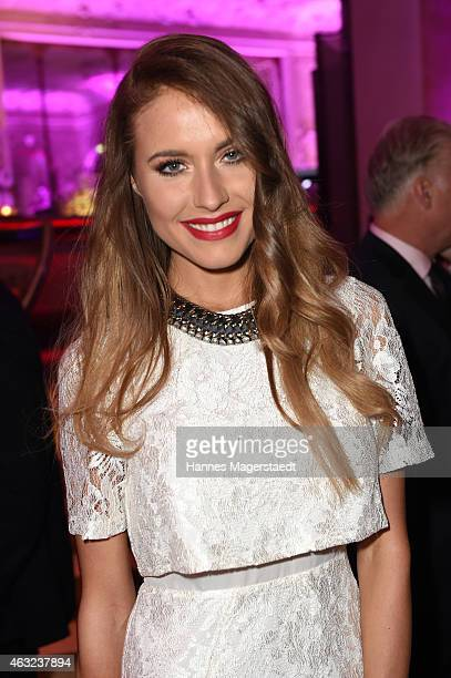 Model Alena Gerber attends the 'Best Brands 2015 Gala Award' at Hotel Bayerischer Hof on February 11 2015 in Munich Germany