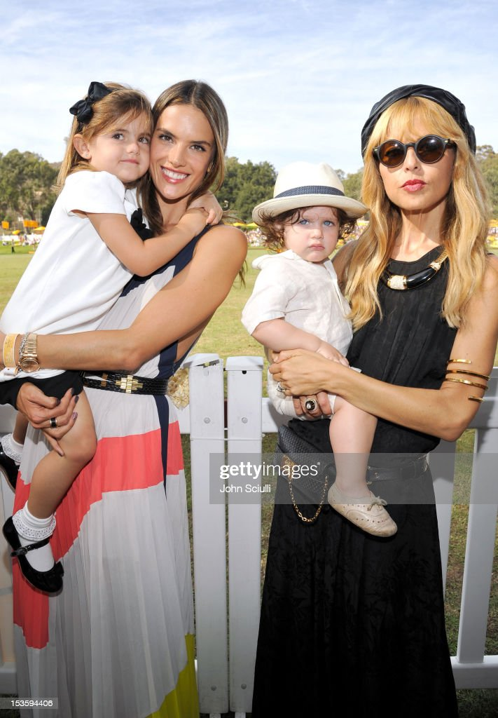 Model Alessandra Ambrosio and stylist Rachel Zoe attend the Third Annual Veuve Clicquot Polo Classic at Will Rogers State Historic Park on October 6, 2012 in Pacific Palisades, California.