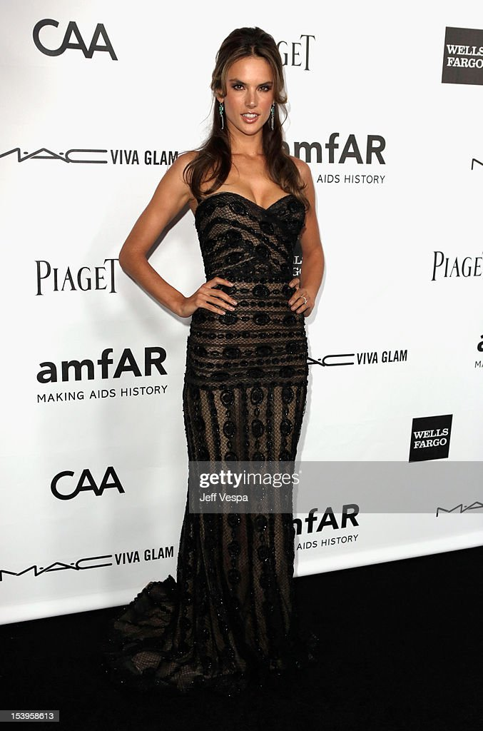 Model <a gi-track='captionPersonalityLinkClicked' href=/galleries/search?phrase=Alessandra+Ambrosio&family=editorial&specificpeople=203062 ng-click='$event.stopPropagation()'>Alessandra Ambrosio</a> arrives at amfAR's Inspiration Gala at Milk Studios on October 11, 2012 in Los Angeles, California.