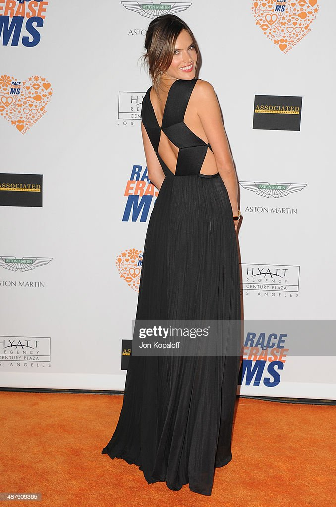 Model Alessandra Ambrosio arrives at the 21st Annual Race To Erase MS Gala at the Hyatt Regency Century Plaza on May 2, 2014 in Century City, California.