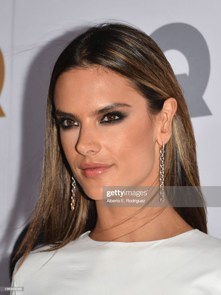 Model Alessandra Ambrosio arrives at the GQ Men of the Year Party at Chateau Marmont on November 13, 2012 in Los Angeles, California.