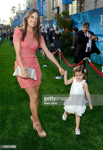 Model Alessandra Ambrosio arrives at the premiere of 'Brave' during the 2012 Los Angeles Film Festival at Dolby Theatre on June 18 2012 in Hollywood...