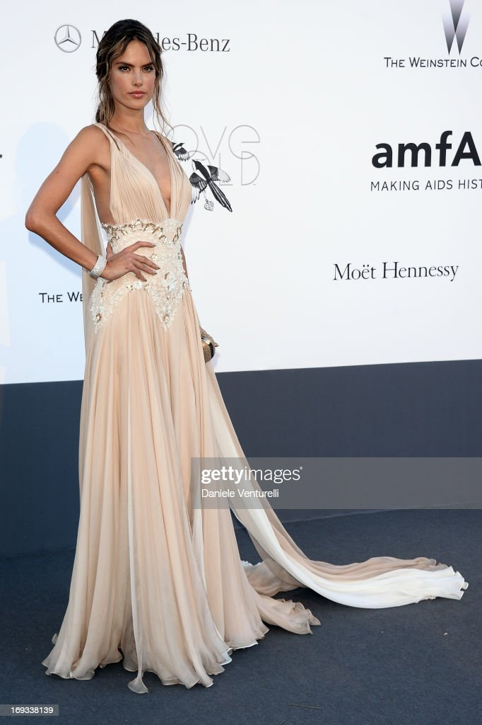 Model Alessandra Ambrosio attends amfAR's 20th Annual Cinema Against AIDS during The 66th Annual Cannes Film Festival at Hotel du Cap-Eden-Roc on May 23, 2013 in Cap d'Antibes, France.