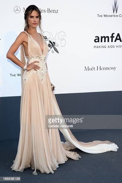 Model Alessandra Ambrosio attends amfAR's 20th Annual Cinema Against AIDS during The 66th Annual Cannes Film Festival at Hotel du CapEdenRoc on May...
