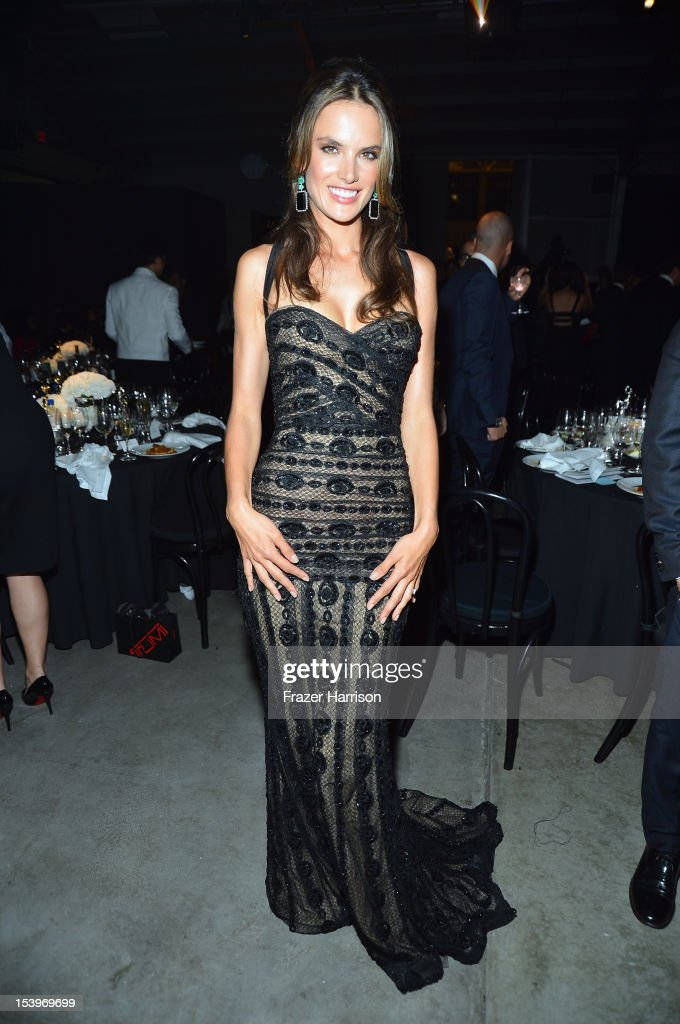 Model <a gi-track='captionPersonalityLinkClicked' href=/galleries/search?phrase=Alessandra+Ambrosio&family=editorial&specificpeople=203062 ng-click='$event.stopPropagation()'>Alessandra Ambrosio</a> attends amfAR's Inspiration Gala at Milk Studios on October 11, 2012 in Los Angeles, California.