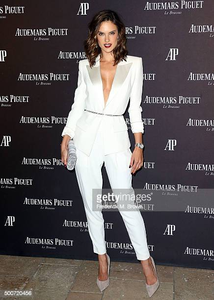 Model Alessandra Ambrosio attends Audemars Piquet Celebrates Grand Opening of Rodeo Drive Boutique on December 9 2015 in Beverly Hills California