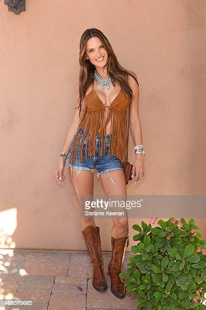 Model Alessandra Ambrosio attends Forever 21 BBQ on April 11 2015 in La Quinta California