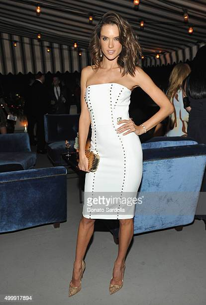 Model Alessandra Ambrosio attends GQ And Dior Homme Private Dinner In Celebration Of GQ's 20th Anniversary Men Of The Year Party at Chateau Marmont...