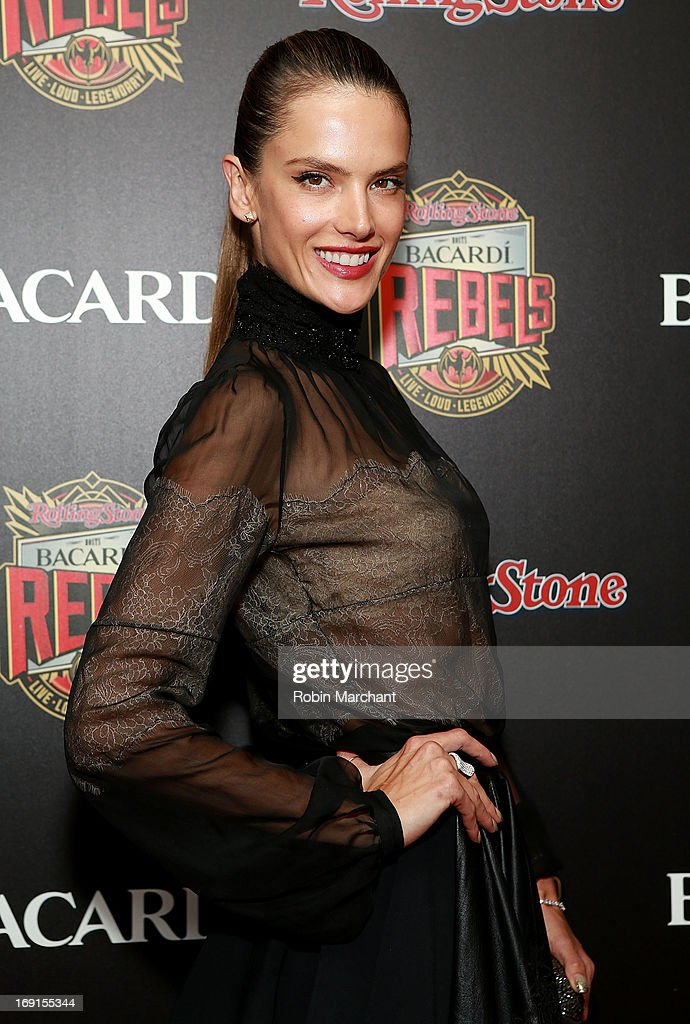Model <a gi-track='captionPersonalityLinkClicked' href=/galleries/search?phrase=Alessandra+Ambrosio&family=editorial&specificpeople=203062 ng-click='$event.stopPropagation()'>Alessandra Ambrosio</a> attends Inaugural Bacardi Rebels event hosted by Rolling Stone at Roseland Ballroom on May 20, 2013 in New York City.