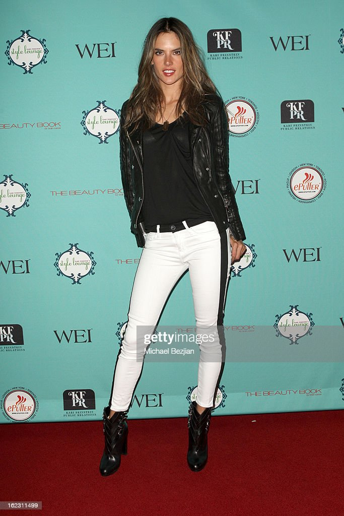Model <a gi-track='captionPersonalityLinkClicked' href=/galleries/search?phrase=Alessandra+Ambrosio&family=editorial&specificpeople=203062 ng-click='$event.stopPropagation()'>Alessandra Ambrosio</a> attends Kari Feinstein's Pre-Academy Awards Style Lounge at W Hollywood on February 21, 2013 in Hollywood, California.