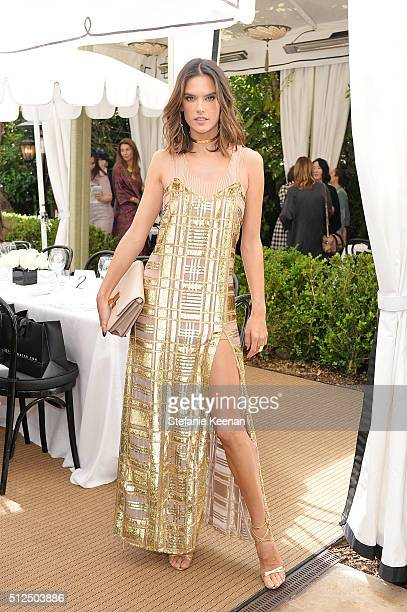 Model Alessandra Ambrosio attends NETAPORTER Celebrates Women Behind The Lens at Chateau Marmont on February 26 2016 in Los Angeles California