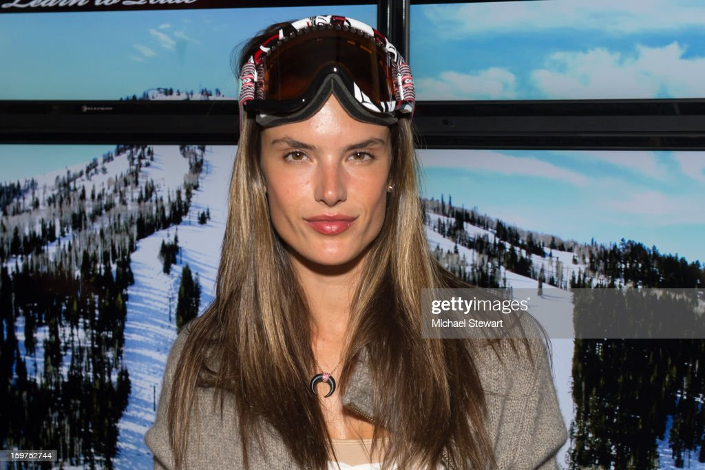 Model <a gi-track='captionPersonalityLinkClicked' href=/galleries/search?phrase=Alessandra+Ambrosio&family=editorial&specificpeople=203062 ng-click='$event.stopPropagation()'>Alessandra Ambrosio</a> attends Oakley Learn To Ride In Collaboration With New Era on January 19, 2013 in Park City, Utah.