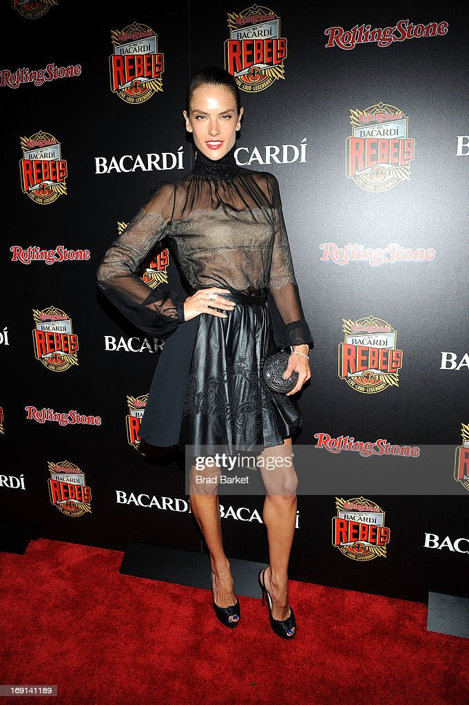 Model Alessandra Ambrosio attends Rolling Stone hosts Bacardi Rebels at Roseland Ballroom on May 20, 2013 in New York City.