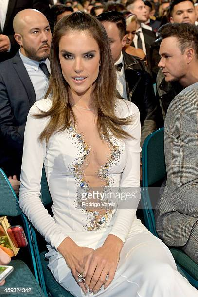 Model Alessandra Ambrosio attends the 15th annual Latin GRAMMY Awards at the MGM Grand Garden Arena on November 20 2014 in Las Vegas Nevada