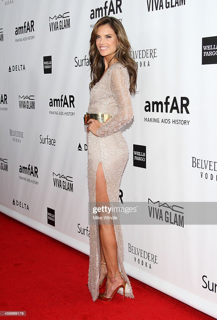 Model <a gi-track='captionPersonalityLinkClicked' href=/galleries/search?phrase=Alessandra+Ambrosio&family=editorial&specificpeople=203062 ng-click='$event.stopPropagation()'>Alessandra Ambrosio</a> attends the 2013 amfAR Inspiration Gala Los Angeles at Milk Studios on December 12, 2013 in Los Angeles, California.