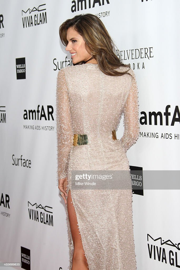 Model Alessandra Ambrosio attends the 2013 amfAR Inspiration Gala Los Angeles at Milk Studios on December 12, 2013 in Los Angeles, California.