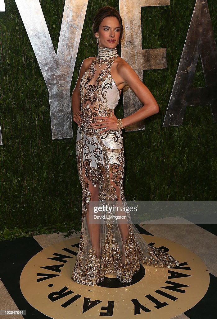 Model Alessandra Ambrosio attends the 2013 Vanity Fair Oscar Party at the Sunset Tower Hotel on February 24, 2013 in West Hollywood, California.
