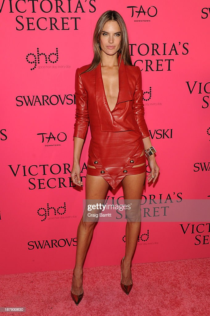 Model Alessandra Ambrosio attends the 2013 Victoria's Secret Fashion after party at TAO Downtown on November 13, 2013 in New York City.