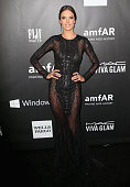 Model Alessandra Ambrosio attends the 2014 amfAR LA Inspiration Gala at Milk Studios on October 29 2014 in Hollywood California