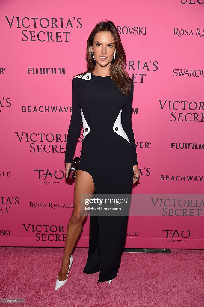 Model Alessandra Ambrosio attends the 2015 Victoria's Secret Fashion After Party at TAO Downtown on November 10, 2015 in New York City.