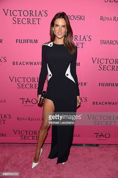 Model Alessandra Ambrosio attends the 2015 Victoria's Secret Fashion After Party at TAO Downtown on November 10 2015 in New York City
