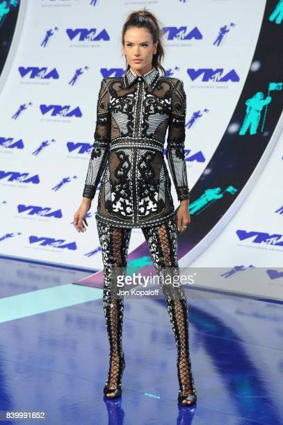 Model Alessandra Ambrosio attends the 2017 MTV Video Music Awards at The Forum on August 27 2017 in Inglewood California