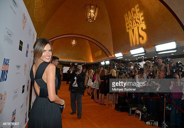 Model Alessandra Ambrosio attends the 21st annual Race to Erase MS at the Hyatt Regency Century Plaza on May 2 2014 in Century City California