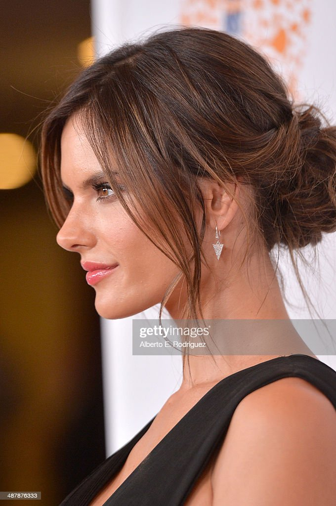 Model Alessandra Ambrosio (fashion detail) attends the 21st annual Race to Erase MS at the Hyatt Regency Century Plaza on May 2, 2014 in Century City, California.