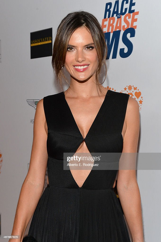 Model Alessandra Ambrosio attends the 21st annual Race to Erase MS at the Hyatt Regency Century Plaza on May 2, 2014 in Century City, California.