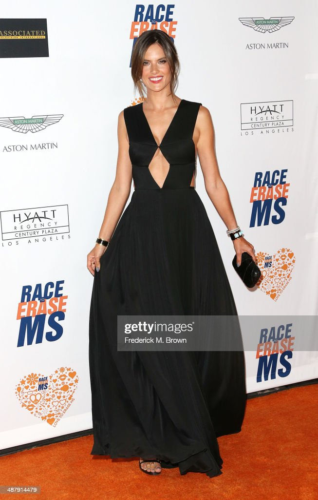 Model <a gi-track='captionPersonalityLinkClicked' href=/galleries/search?phrase=Alessandra+Ambrosio&family=editorial&specificpeople=203062 ng-click='$event.stopPropagation()'>Alessandra Ambrosio</a> attends the 21st Annual Race to Erase MS at the Hyatt Regency Century Plaza Hotel on May 2, 2014 in Century City, California.