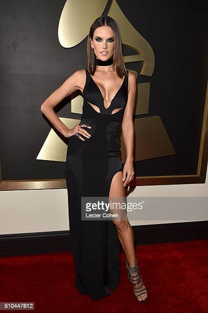 Model Alessandra Ambrosio attends The 58th GRAMMY Awards at Staples Center on February 15 2016 in Los Angeles California