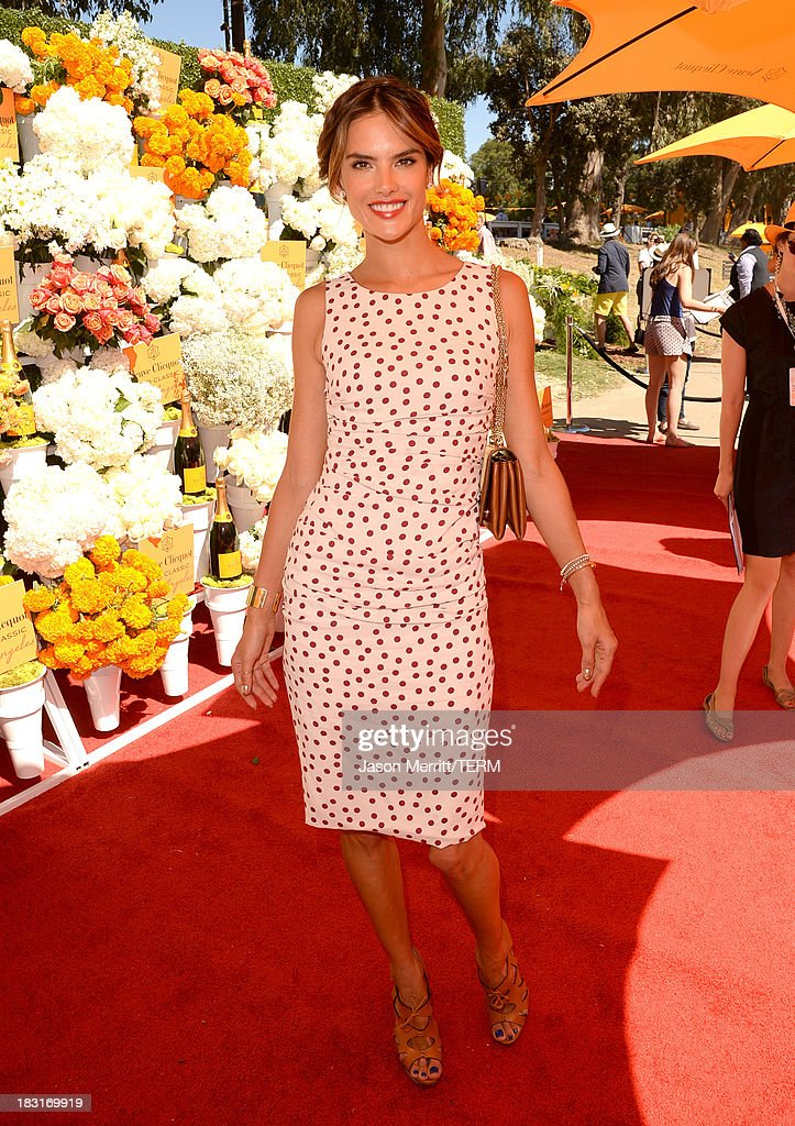 Model Alessandra Ambrosio attends The Fourth-Annual Veuve Clicquot Polo Classic, Los Angeles at Will Rogers State Historic Park on October 5, 2013 in Pacific Palisades, California.