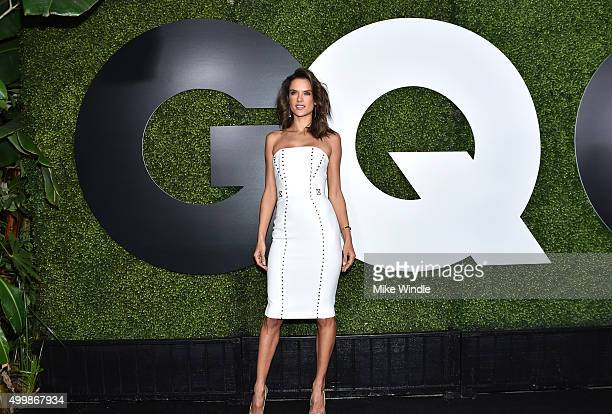 Model Alessandra Ambrosio attends the GQ 20th Anniversary Men Of The Year Party at Chateau Marmont on December 3 2015 in Los Angeles California