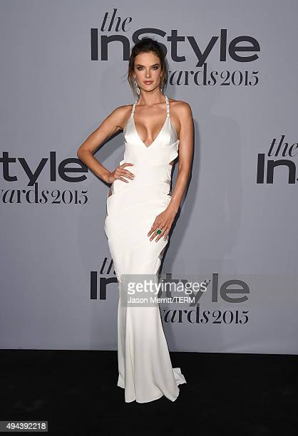 Model Alessandra Ambrosio attends the InStyle Awards at Getty Center on October 26 2015 in Los Angeles California